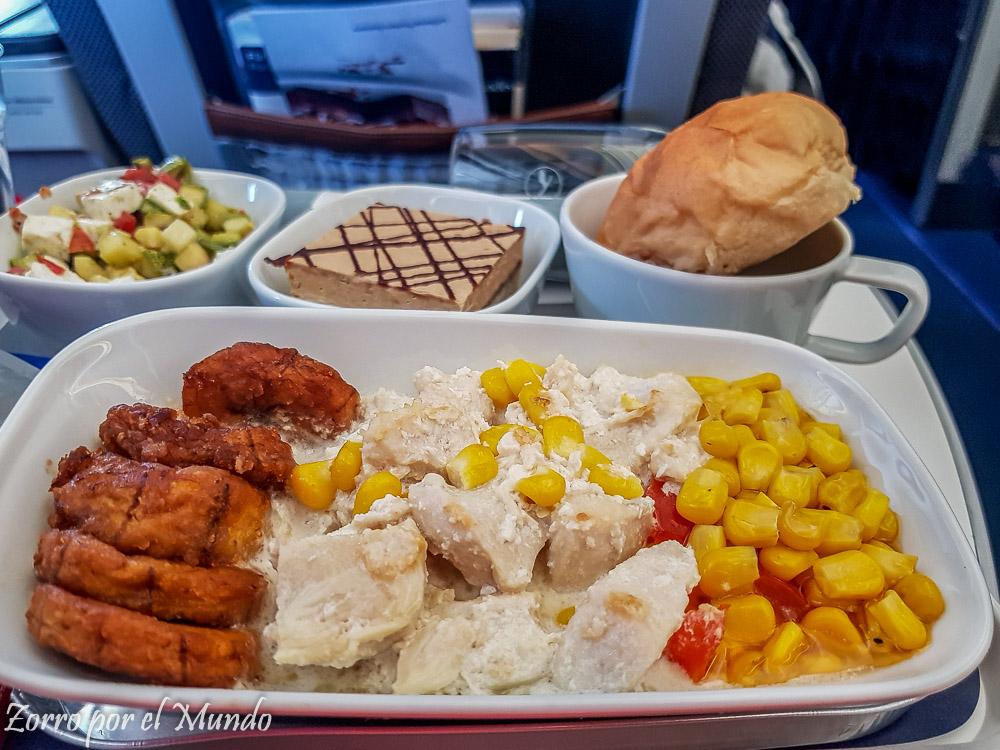 Pollo Lufthansa Premium Economy