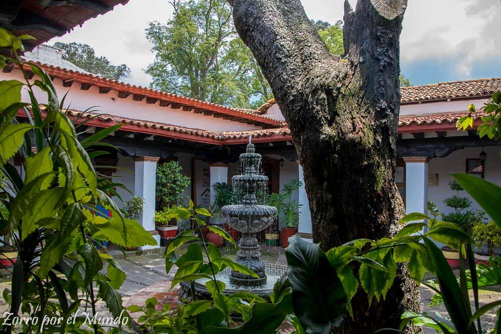 Interior de la Casa de Cultura