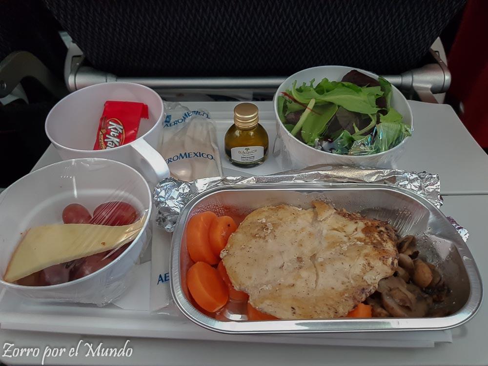 Comida del avión 1 Aeromexico
