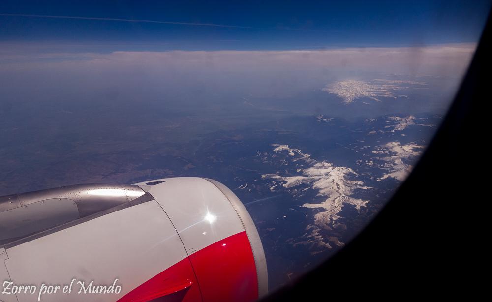 Vista avión boleto de avión con Ciudad Oculta