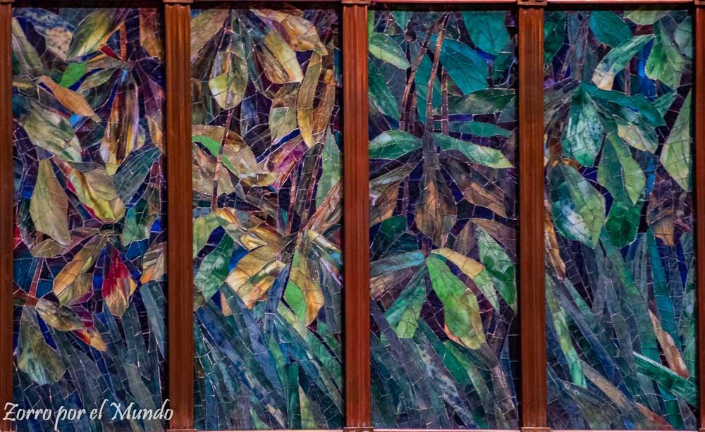 Detalles del telón tiffany Palacio de Bellas Artes