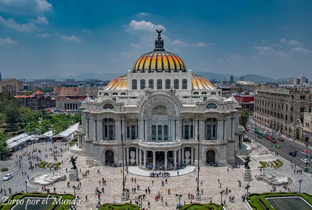 Vista General del palacio de Bellas Artes