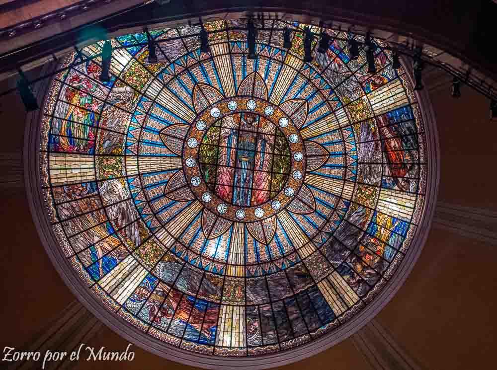 Plafón luminoso Palacio de Bellas Artes