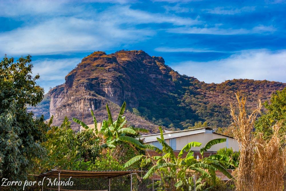 Vista de cerros desde Tlayacapan