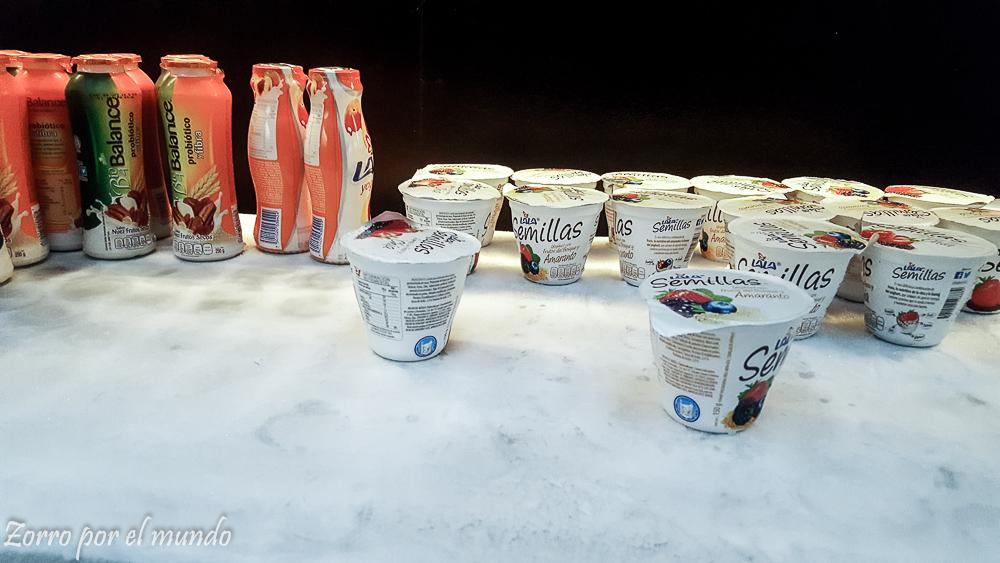 Barra de yogurts fríos