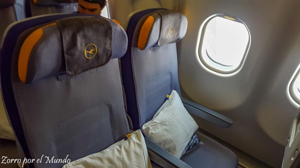 Asientos Economy Lufthansa