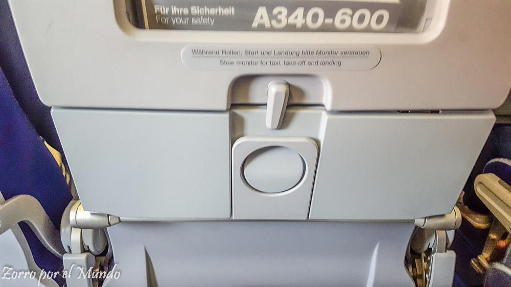 Portavasos asiento avión