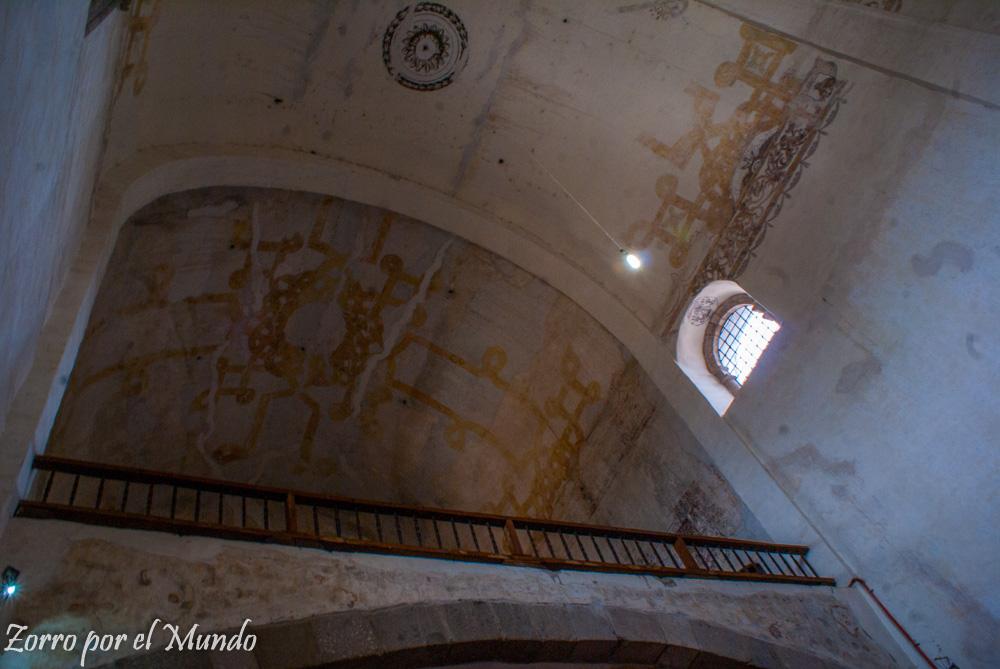 Interior de la nave principal de Tlayacapan