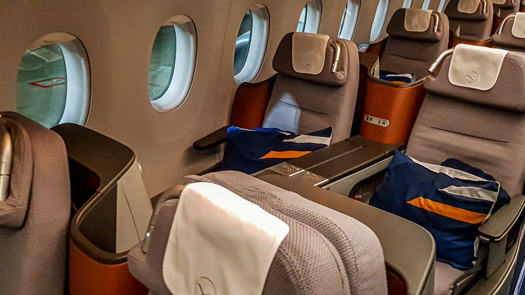 Vista de Business Class de Lufthansa