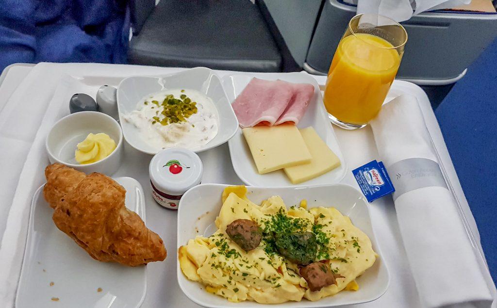 Desayuno de Business Class de Lufthansa