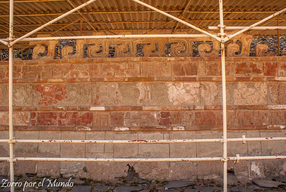 Más detalles de los murales Tula