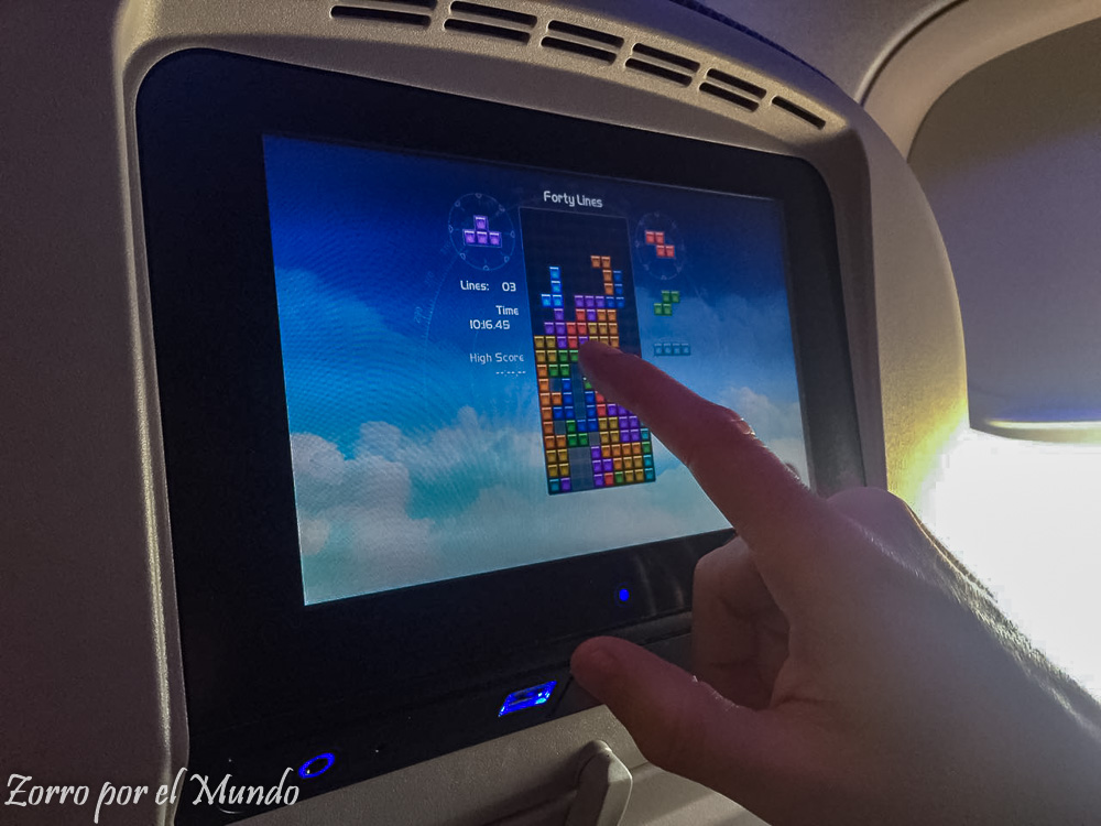 Tetris en avión